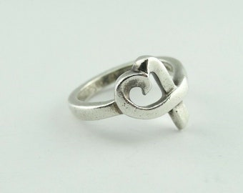 089a1f36d USED Tiffany & Co. Sterling SIlver Ring Band sz 6 Picasso Single Loving  Heart!!!