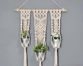 Hand Crafted Wall Hanging Macrame Planter Macrame Plant Hanger Indoor Outdoor