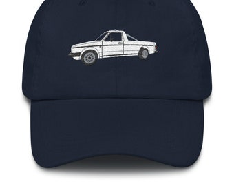 38152085be31d Dad hat with VW Golf MK1 Caddy embroidery