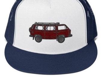 754b140e0db2f Trucker Cap with VW T3 Syncro embroidery