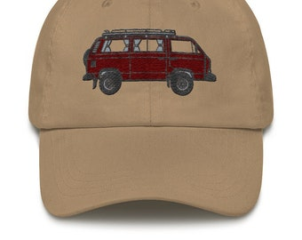d1a098cd76fa5 Dad cap with VW T3 Syncro embroidery