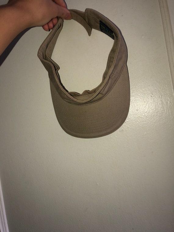 Beige sun visor hat