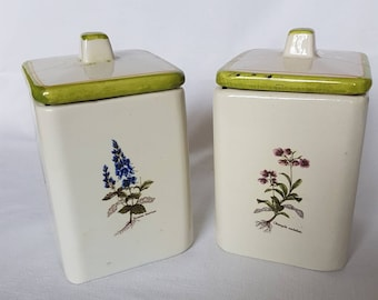 Ceramic Spice Cans Country Style, Shabby Chic