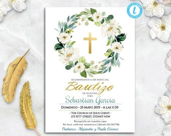 Invitaciones Bautizo Niño Invitacion De Bautizo Imprimible