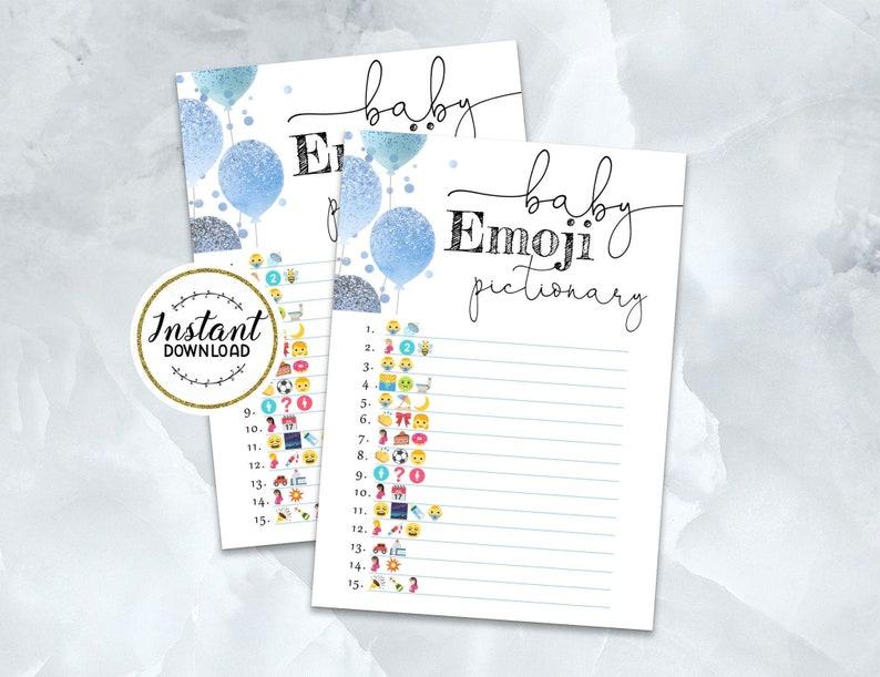 Printable Baby EMOJI Game Baby Shower Emoji Answer Key | Etsy