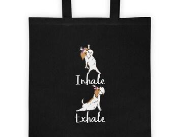 e1b01c3236 Shih Tzu Dog Funny Yoga Pose Tote Bag