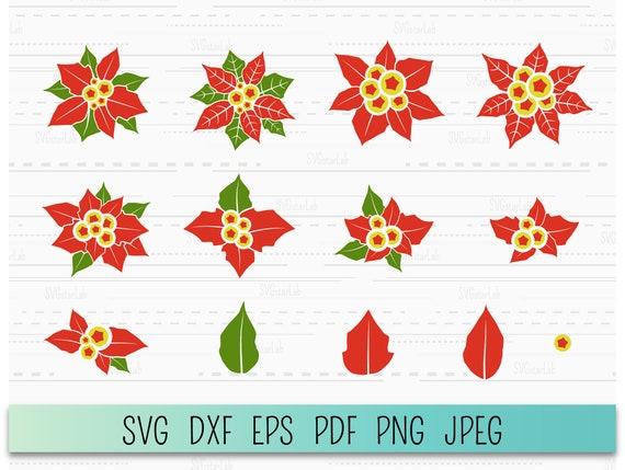poinsettia cutting file Poinsettia SVG Cutting File Christmas flower svg,pointsetta svg,Vinyl Cutting File,Cricut SVG poinsettia cut file