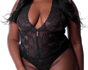 b21d5e461 Plunge V-Neck Teddy Plus size lingerie Plus Lingerie Plus size intimate  apparel Plus size teddy Plus teddy Plus size teddies Plus Intimates