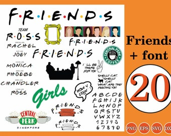 Friends digital logo | Etsy