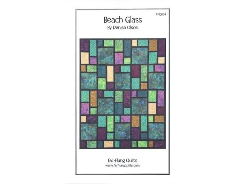Beach Glass quilt pattern FFQ034 image 0