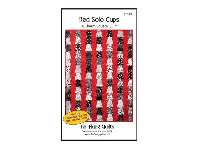 Red Solo Cups quilt pattern FFQ026 image 0