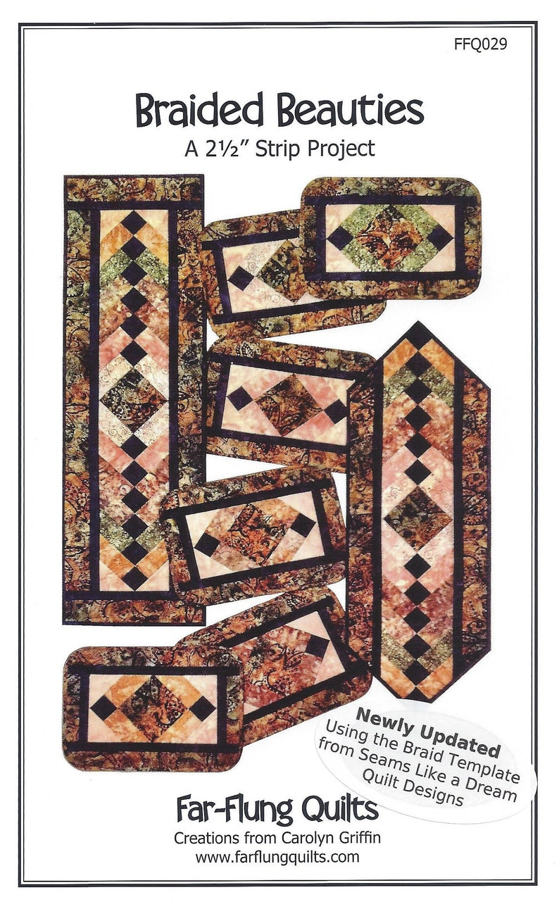 Braided Beauties table runner & placemat pattern FFQ029 image 0