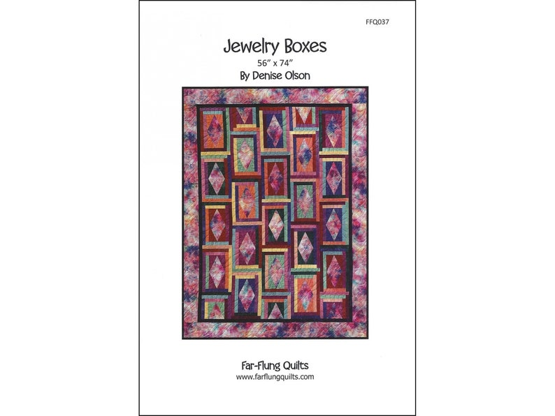 Jewelry Boxes quilt pattern FFQ037 image 0