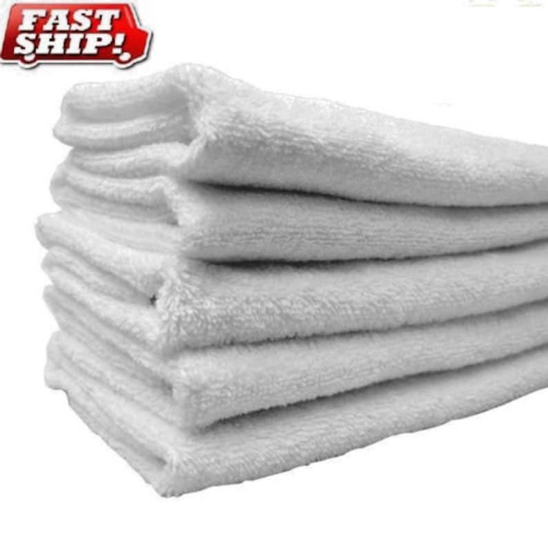 2 dozen white 100/% cotton hotel wash cloths 12x12 washcloths buy 2 get 1 free !!