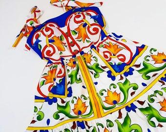 5c6a5407 couture dress SUMMER summer dress sundress inspiration dolce gabbana