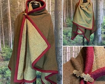 Haithabu storage blanket medieval clothing cape Rectangular coat made of 100/% undyed Birka natural virgin wool