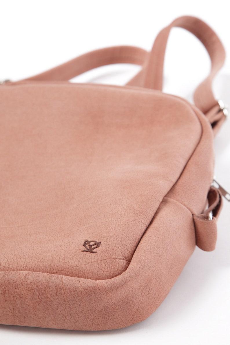 shoulder bag Pink leather stylish rucksack genuine cow nubuck leather,travel backpack Women/'s leather backpack leather rucksack