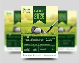 Golf flyer | Etsy