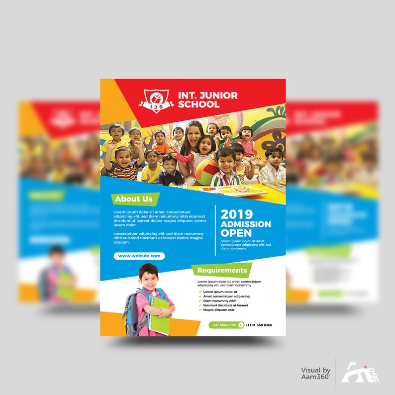 Junior School Admission Flyer Template | Kids School Flyer Template | Kids  Training Center Flyer | Instant Download | Digital File