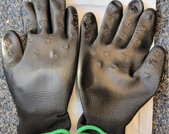 VPG1188-08 Vampire_Gloves Black_Green_Trim Mens_Medium