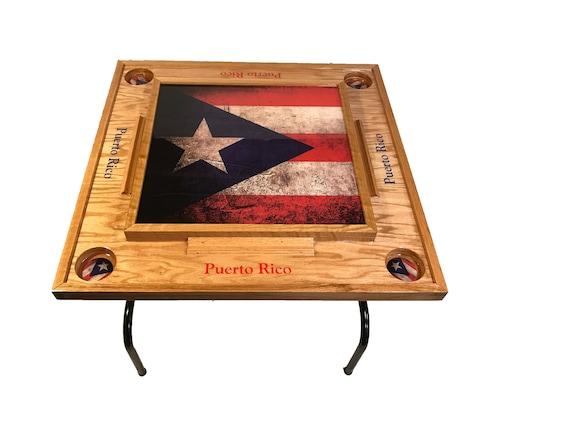 Puerto Rico Flag V Domino Table