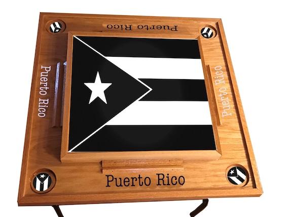 Puerto Rico Black White Domino Table