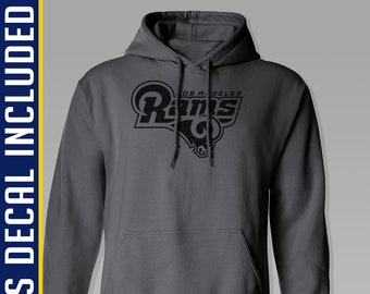 f7a2a7a85e0e0 LA Rams Hoodie - Small to 5XL - Regular Unisex Fit - Charcoal Pullover  Sweatshirt - Los Angeles - Football