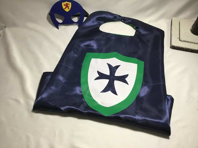 Knight cape with mask, child's cape, personalized cape, party favor, custom  capes