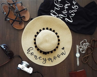 bd550478 Honeymoon, Floppy Beach, Floopy Hat, Beach Babe, Hello Sunshine Straw, Just  Married Hat, Honeymoon, Must Have, MANY COLOR