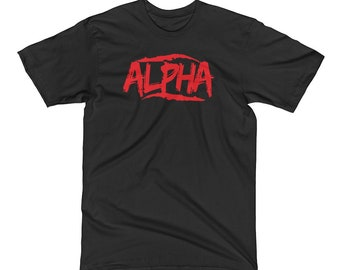 d18167ca Alpha Mens Workout Shirt, Unisex Shirt, Gym Clothes, Fitness Apparel,  Graphic Tee, Shirts With Sayings, Weight Lifting, Bodybuilding T-Shirt
