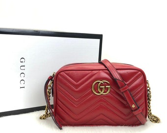 02abc8c128a036 Gucci Marmont Messenger Red