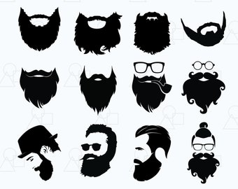 Beard Svg Vector Digital Clipart For Cricut Silhouette Design Printing Or More Instant File Download Png Eps Jpg