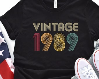 30th Birthday Gift Vintage 1989 Shirt For Women Men Classic Retro Color Ideas T Tee Gifts From Daughter