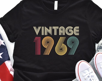 50th Birthday Gift Vintage 1969 Shirt For Women Men Classic Retro Color Ideas T Tee Gifts From Daughter