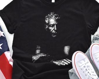 Anthony Bourdain Shirt Portrait Unisex Tee XS-3XL Chef Poet