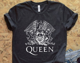 8656a02de Queen Rock Band Shirt Vintage British Freddie Mercury Shirt TShirt For Men  Women 70s 80s Sayings Rock Band Graphic Design Retro Music shirt