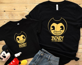 Bendy and The Ink Machine Shirt Youth Unisex Infant Toddler Tee Tshirt Matching Family Shirts