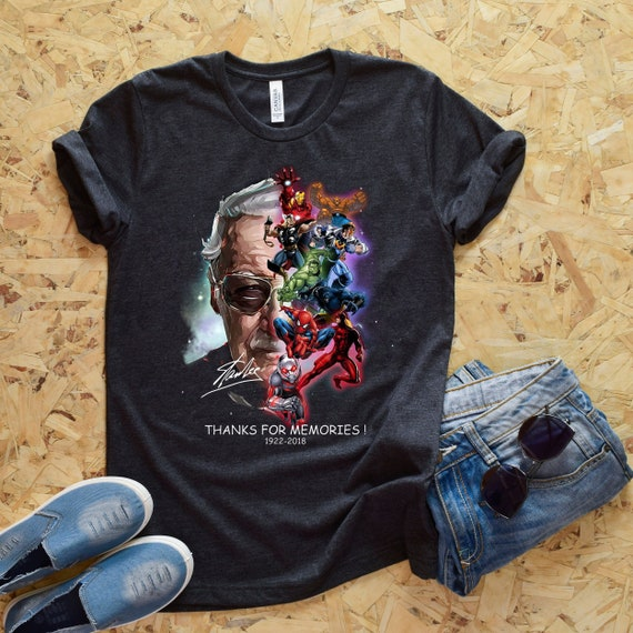 f895adddd Rip Stan Lee Shirt Marvel Superheroes Tee Thank You For The | Etsy