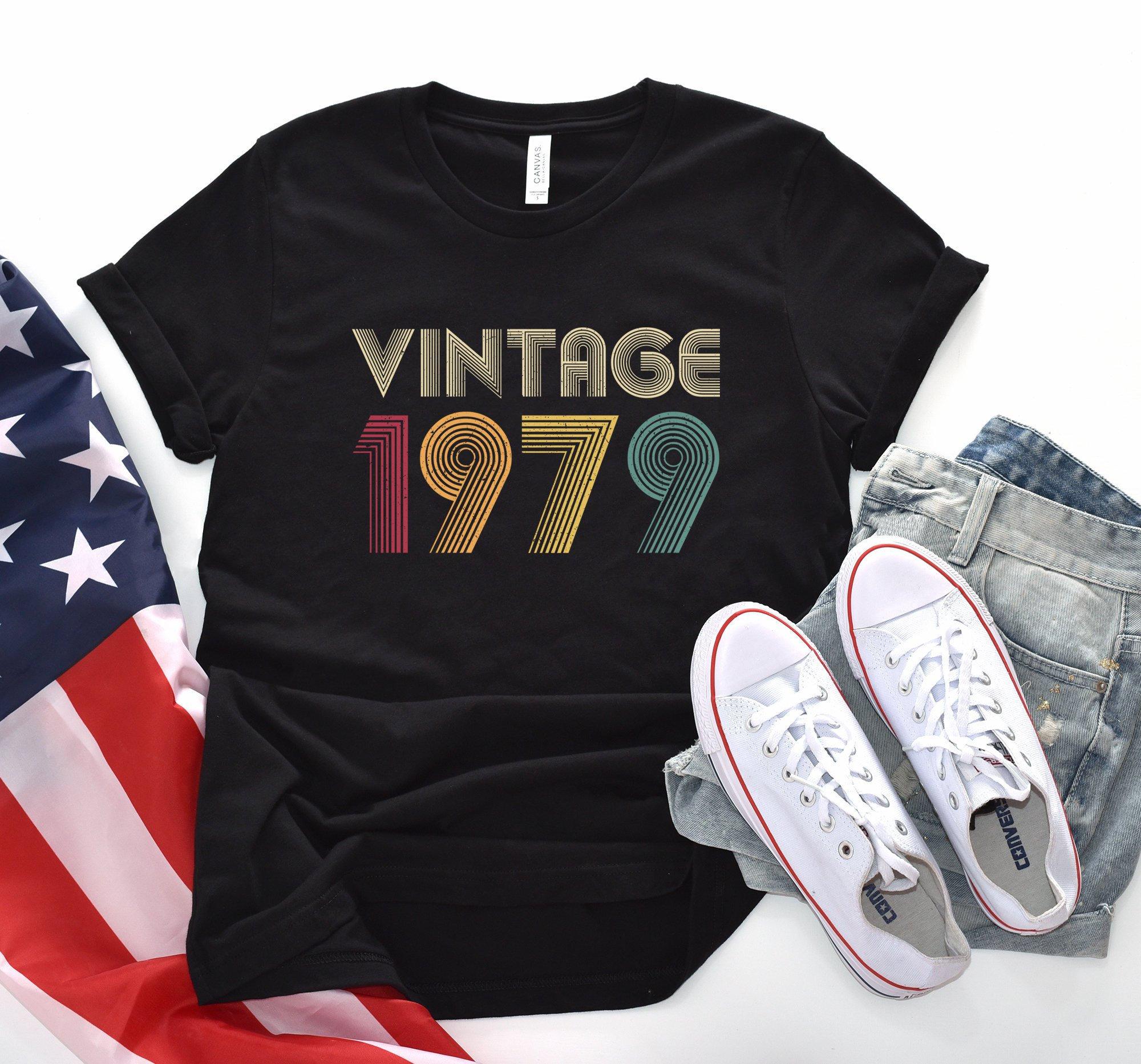 40e anniversaire cadeau cadeau anniversaire Vintage 1979 chemise pour femmes hommes rétro couleur classique 40ème anniversaire cadeau idées 1979 T-shirt Tee cadeaux de fille 97c1c8