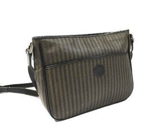 Vintage 1990 s Fendi Striped Zucca Side Bag 06eb8671585f0
