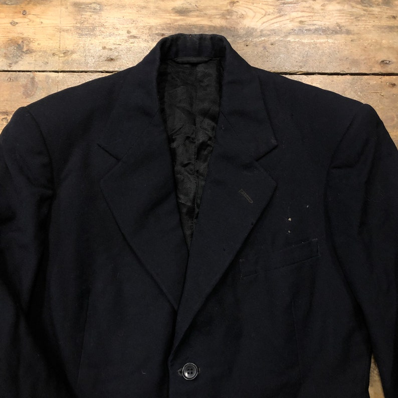 Vintage 1940s Navy Burton Blazer Suit Jacket