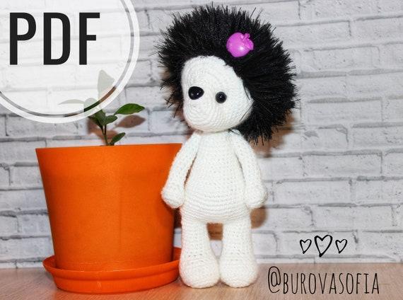 Ozzy - cuddly toy. Crochet donkey - animal art doll. Soft gift ... | 424x570