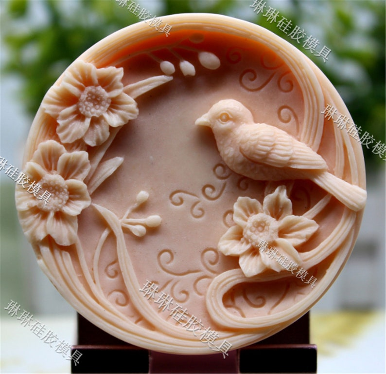 Silica Gel Mould Soap Mould Candle Moss Cake Bird Aromatherapy Gypsum Mould Silica Gel Mould