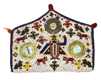 Embroidery I17-5 Au Vintage Rare Hand Embroidery Work Kutch Collectible Home Décor Cloth Antiques