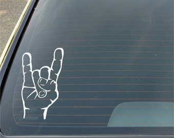 Devil Sign Decal Window Sticker