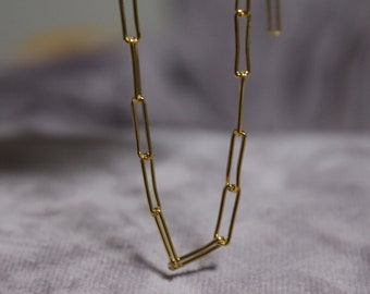 5d3df1b93 Gold Link necklace, Link gold necklace,Gift for women,Jewelry, link chain  necklace, Layered necklace, layering necklace, choker gold