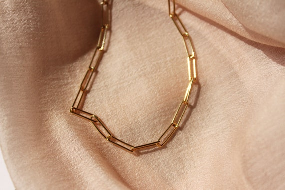 gold-link-necklace,-link-gold-necklace,jewelry,-link-chain-necklace,-layered-necklace,-layering-necklace,-choker-gold,link-chain-choker by etsy