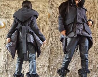 Frauen Kapuzen Weste Mantel plus Size Frauen Jacken mit Kapuze Frauen  schwarzen Mantel, asymmetrische Jacke, Mantel Frau, schwarze Weste,  schwarze Blazer ... ce1bb618c3