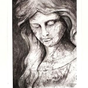 Stone Angel Original Watercolour Painting