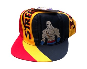 Very rare vintage genuine 1996 Street Fighter 2 Sagat character SnapBack hat  with OG Capcom tags. Akira Rap Tee Videogame Nirvana Tupac 5499cfeeccf8